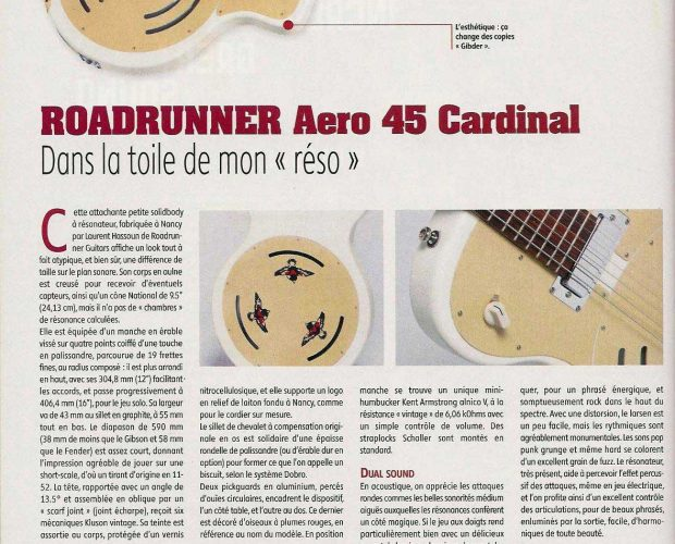 Roadrunner Aero 45 Cardinal Guitar Part