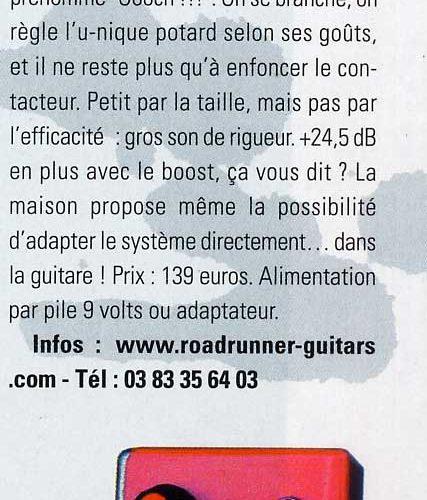 Guitarist Magazine Roadrunner Oooch pedal