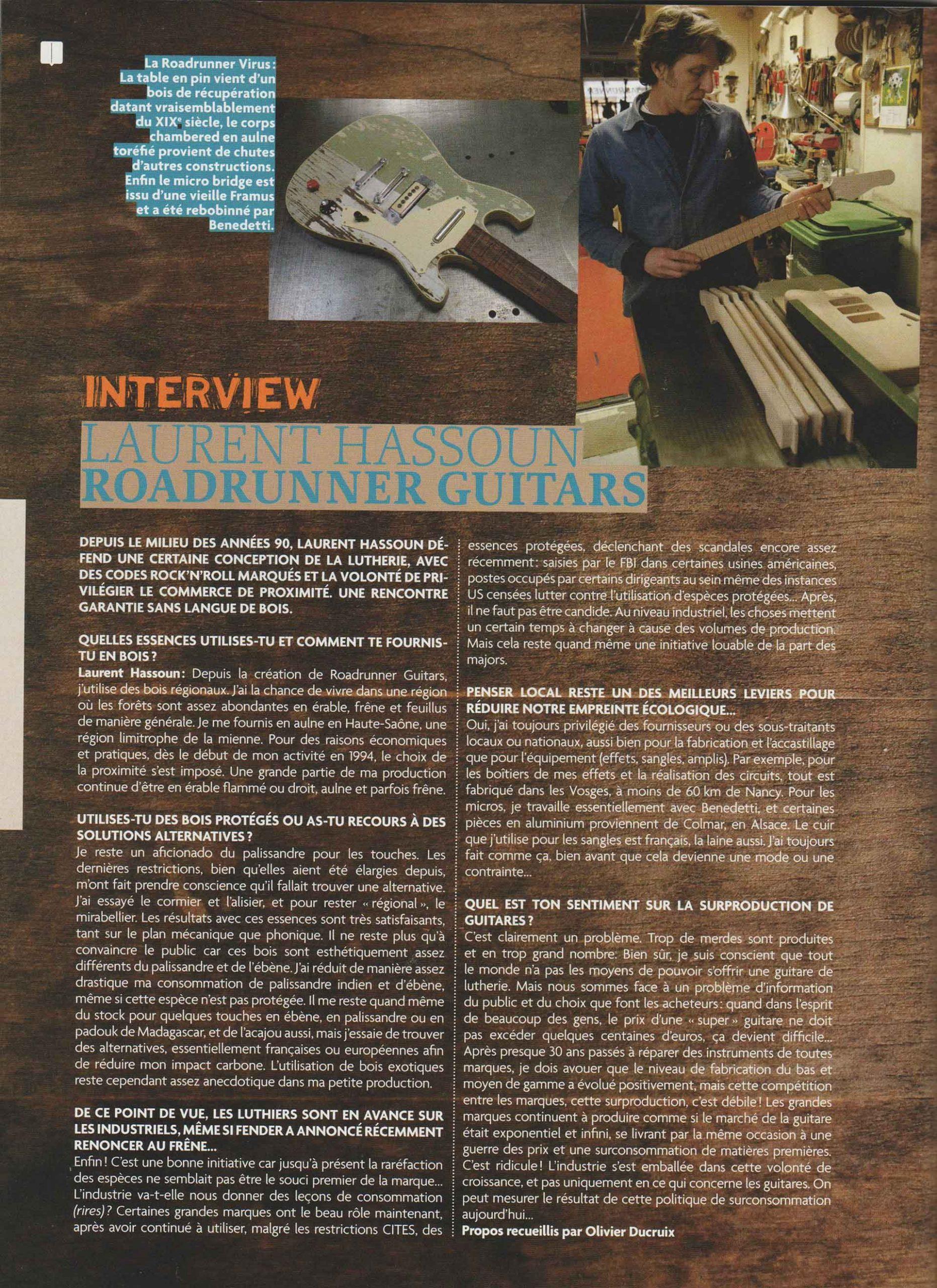 Roadrunner Guitars Interview Guitar Part Juillet 2020