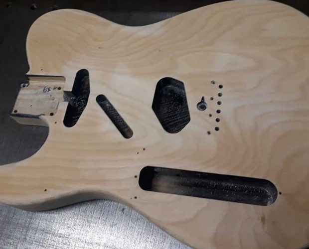Telecaster black uniform to sweet nitro ivory finish